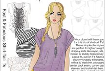 Inspiration: Fast & Fabulous Shirt-Tail T's from HotPatterns / ...everyone needs a few simple, throw-on-and-go T's...try these, you can make them as simple or as fancy as you'd like!