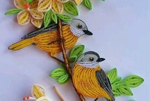 Beautiful Quilled Birds