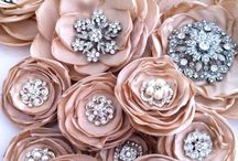 Organza roses and broaches