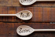 Etched Wooden Spoons / by Connys Cottage ...