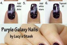 Galaxy/ Star Nails