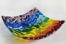 fused glass-sulatuksia