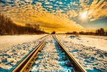 Trains, Landscapes ..Horizons / Treni, Paesaggi ..Orizzonti