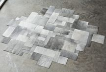 """""""shapes"""" a collection of pieced cowhide rugs, designed by maison21"""