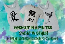 Workout / Workouts.  Fun? Miserable?  Well, they are good topics of conversation!  Enjoy our Line of workout tees and commentary about being fit!