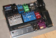 Guitar, pedalboard