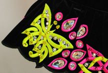 Embroidery / Irish dancing solo dresses made by Siopa Rince teo. close up images of embroidery