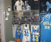 Naismith Basketball Hall of Fame / Photos of the Ultra Mount Jersey Display Hanger in use at the Naismith Basketball Hall of Fame.