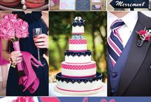 {Wedding} Pink & Navy Color Combo