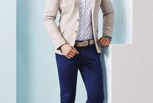 Convinacion pantalón azul