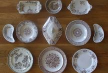Plate Arrangements I've Done for Clients and my Shop