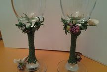 Handmade / Wedding glasses