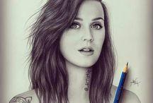 desenhos de famosos ♥