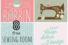 Sewing room decor & organisation