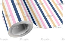 Flamingo Navy Baby Shower / This collection features a cute pink flamingo baby and mother. The background consists of pink chevrons, pink polka dots on navy blue and a pink, blue and gold stripe ribbon.