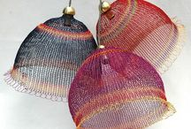 knitted stuff lampshade etc