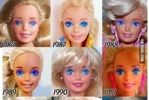 Barbie / How Barbie dolls have changed though out the years
