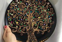 Dot Painted Mandalas