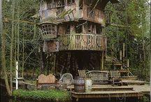 Treehouses.