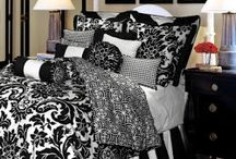 Ivory and Black Comforter & Bedding Sets / If you like budget-wise (so I'm stingy) ivory and white bedding sets, I've included many in different decor styles here.