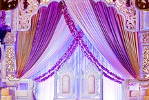 Indian themed wedding stage