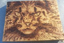 Pyrografie / Wood Burning / since 3 months i like to burn on wood with my soldering irons