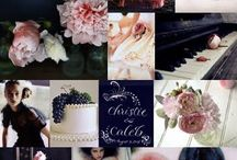 Navy & pink wedding