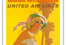 Vintage Travel Posters from California / Vintage Art