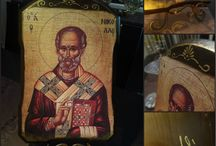 St Nicholas, Greek Orthodox Religious Art, Orthodox Icon, Christian Icon Print, Religious Wall Decor