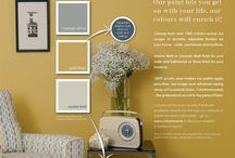 Inspiring Ads / Whatever your style, we have the colour to inspire you! We also have the expertise to help you choose the right colour and finish whatever your decorating project.  Colortrend... be inspired :)