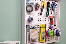 Perfect+Wall Organizers / This new collection from Organizemore is useful for every crafter and will organize craft rooms in style.