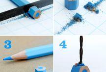 ♥ Pencils& Crayons art ♥