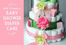 Diaper cake / gateau de couches and baby stuff / by delices nco