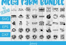 Farm SVG Files / Gorgeous farm SVG Files! Perfect for Cricut, Silhouette Cameo, Scan N Cut, and more! Find more designs at https://www.etsy.com/shop/savanasdesign?section_id=23859617