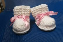 My knit baby boots
