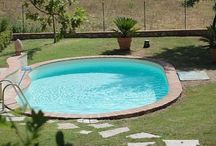Round Pools / For those who like their swimming pools round and inground. Includes many small round pools for saving backyard space.