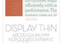 Typography: Font Love / I love typography!
