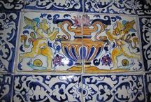 pannelli di ceramica dipinti a mano /  pannelli di ceramica maiolica per Deruta