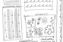 Art journaling, sketchbook