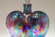 Perfume bottles (glass art)