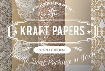 KRAFT PAPERS / DIGITAL PAPERS - KRAFT PAPERS BY DIGITAL PAPER SHOP