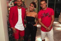 Neymar ,  Jo Amancio i  Rafaella