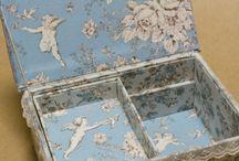 caixas forradas com tecido