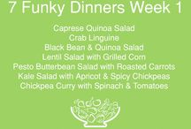 7 Funky Dinners - weekly eating ideas