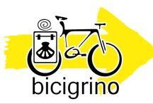 El Camino en bicicleta / Albergues adheridos a Bicigrino (donde podrás dejar tu bicleta con total seguridad). Material y consejos para hacer el camino en bici. Fotografías que reflejan la pasión por la bici.