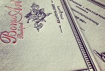 Letterpress works / Letterpress works my studio