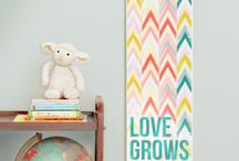 Growth Charts by Gus & Lula / Quality canvas growth charts with original designs by Gus & Lula.  The pretty way to measure your little one's growth.