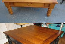 Coffee table and end table / Need a new look  / by Dana Eisberner