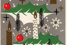 joyeux noël!  / vintage holiday cards / by Amaya Thanatogenos