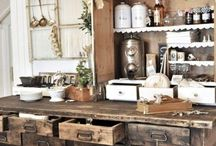rustic kitchen / by Lacy Coker